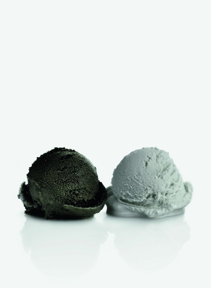 Davide Balula Burnt Painting, Imprint of the Burnt Painting (Ice Cream), 2013 Courtesy the artist and the gallery. Courtesy of Art Basel.